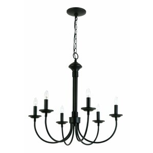 shaylee 6light candlestyle chandelier