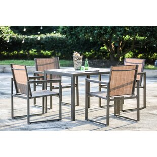 outdoor dining table and chairs narrow darcie piece dining set patio sets youll love wayfair