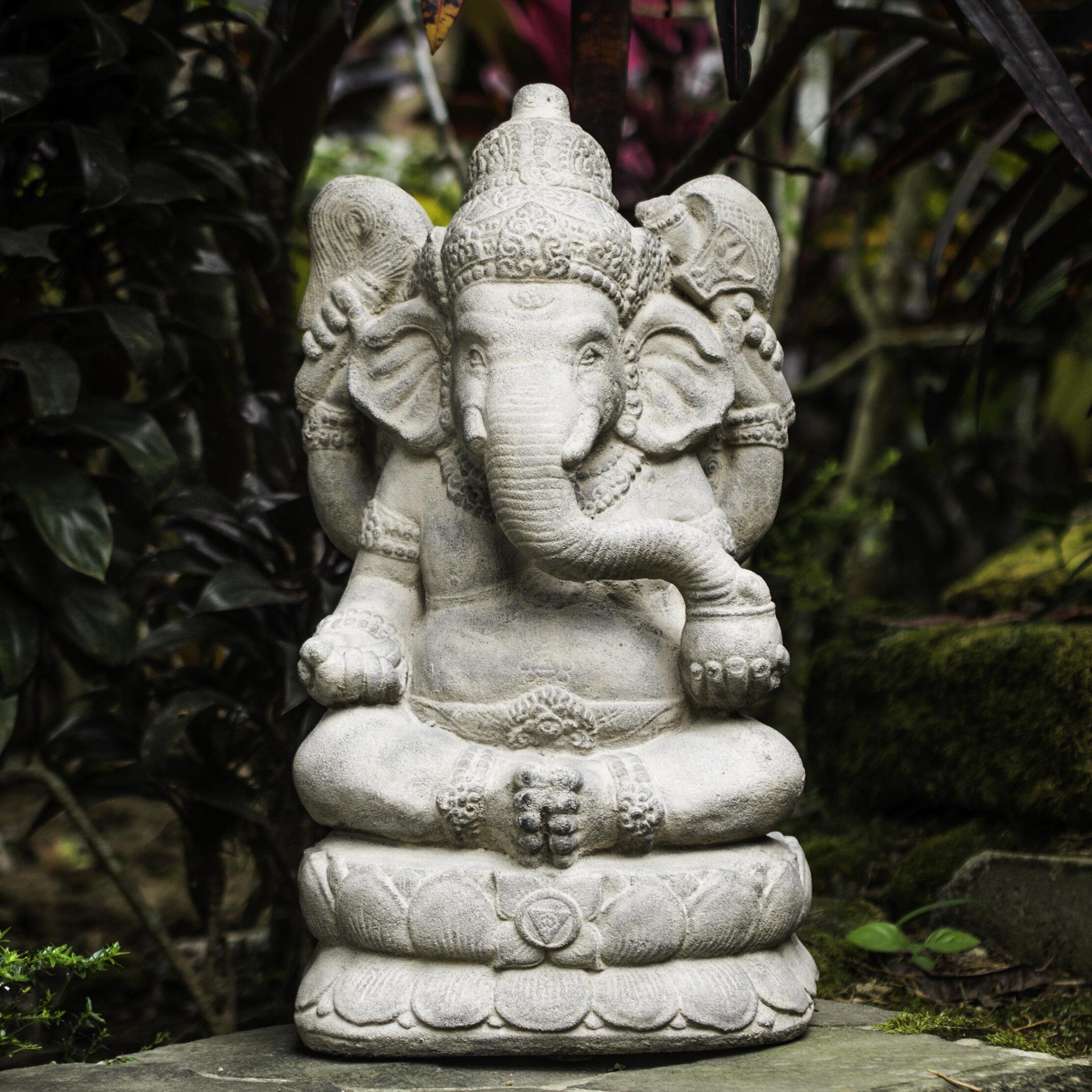 Gentil My Spirit Garden Volcanic Ash Powerful Ganesha Statue U0026 Reviews | Wayfair