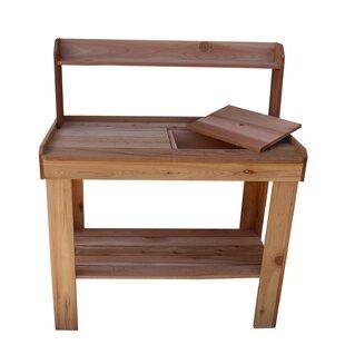 Garden Potting Bench With Sink Garden potting table with sink wayfair potting bench workwithnaturefo