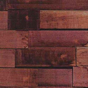 Keven Vanilla Wood 16 4 L X 23 6 W Embossed And Stick Wallpaper Roll