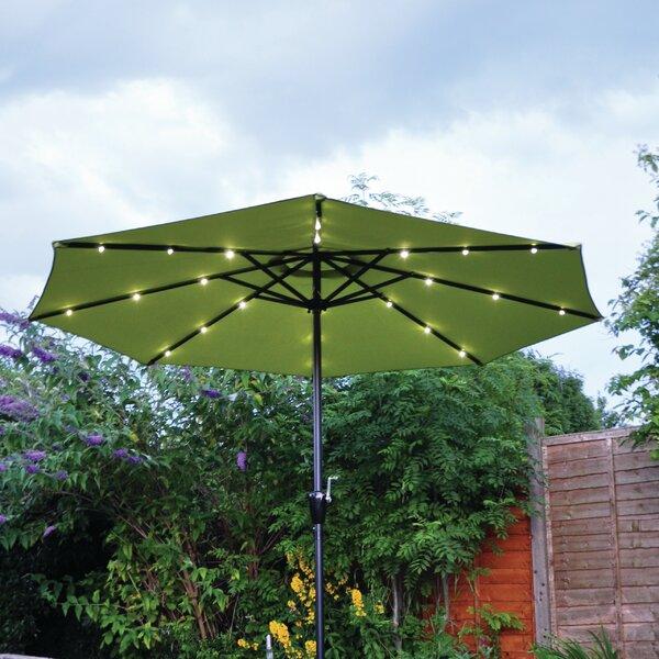 Garden Parasol With Lights | Wayfair.co.uk