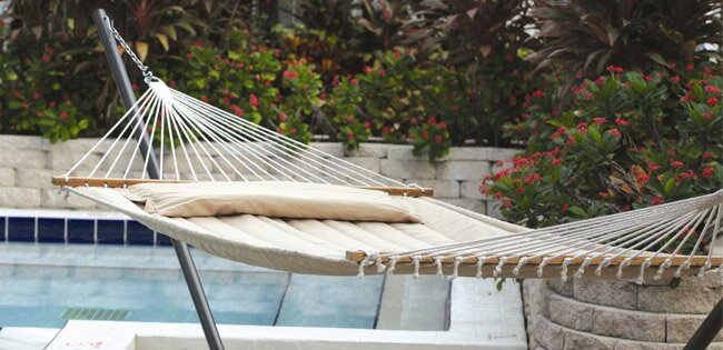 hammocks create a relaxing calming environment wherever they are hung from proper hanging height to which fabric types are best suited to your needs