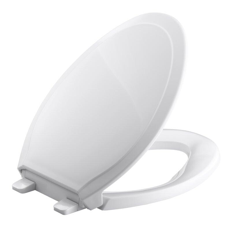 d shaped wooden toilet seat. Rutledge Quiet Close With Grip Tightelongated Toilet Seat K 4734 0 47 96 Kohler