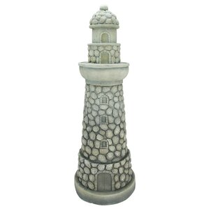 Outdoor lighthouse statue wayfair stone inspired lighthouse outdoor patio garden statue sciox Image collections