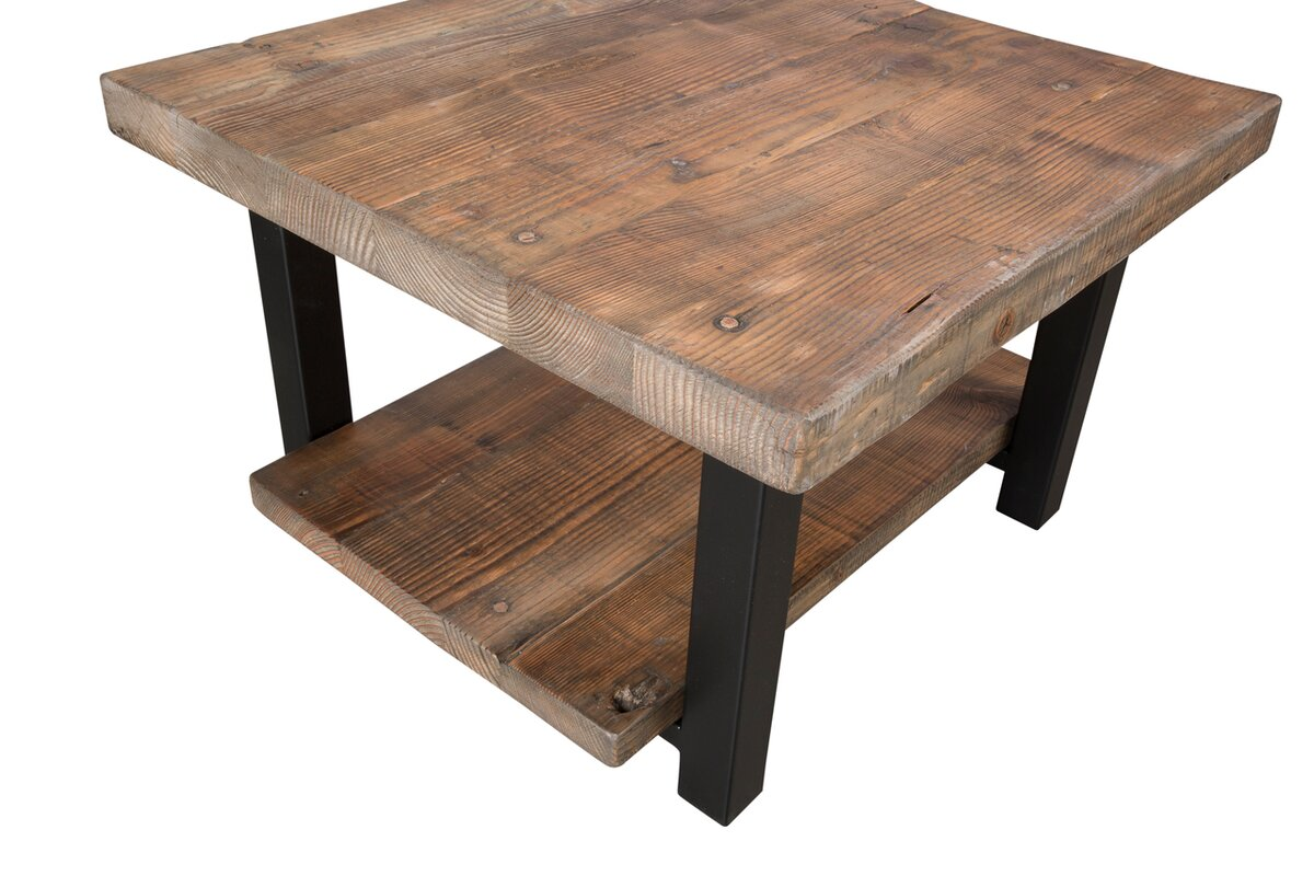 Loon Peak Somers 27 Reclaimed Wood Square Coffee Table Reviews