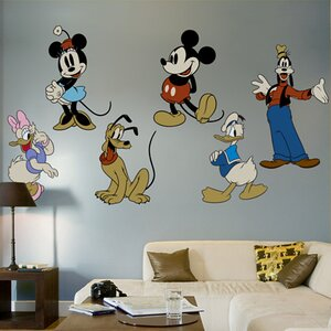 Classic Mickey Mouse And Friends Wall Decal