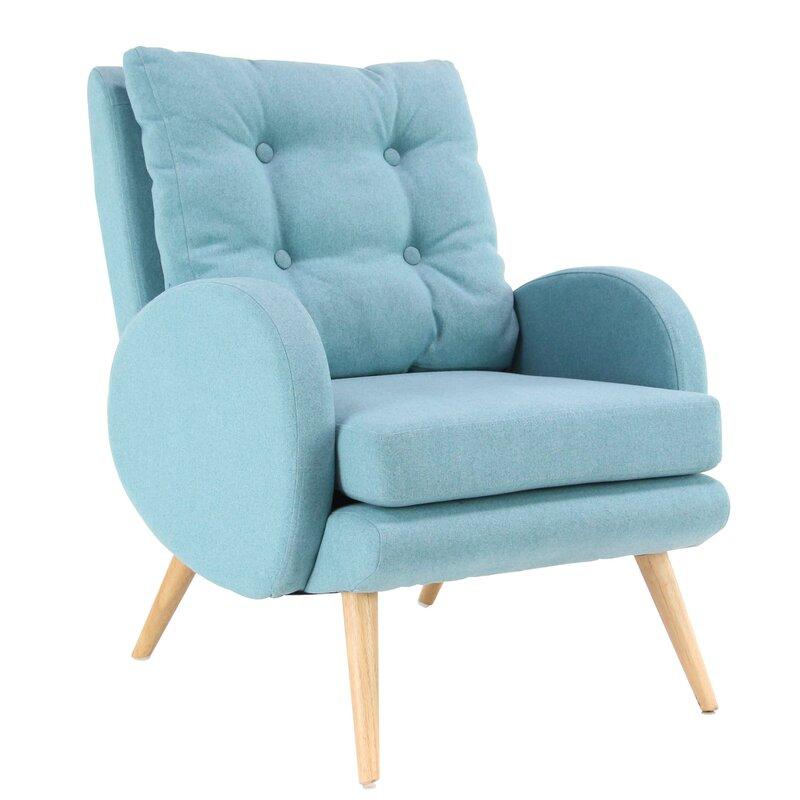 Kristie Modern Cushioned Armchair
