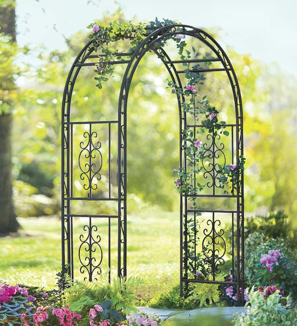 Plow & Hearth Montebello Iron Arbor & Reviews | Wayfair