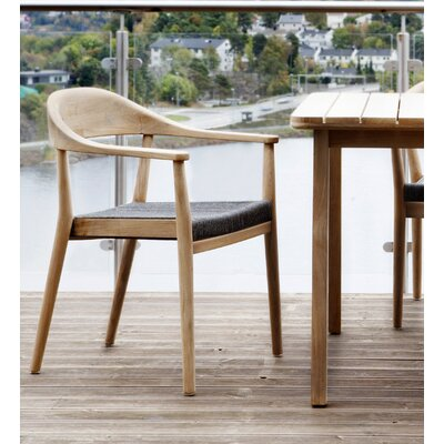 Oasiq Skagen Stacking Teak Patio Dining Chair With Cushion Perigold