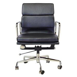 lark mid back leather desk chair