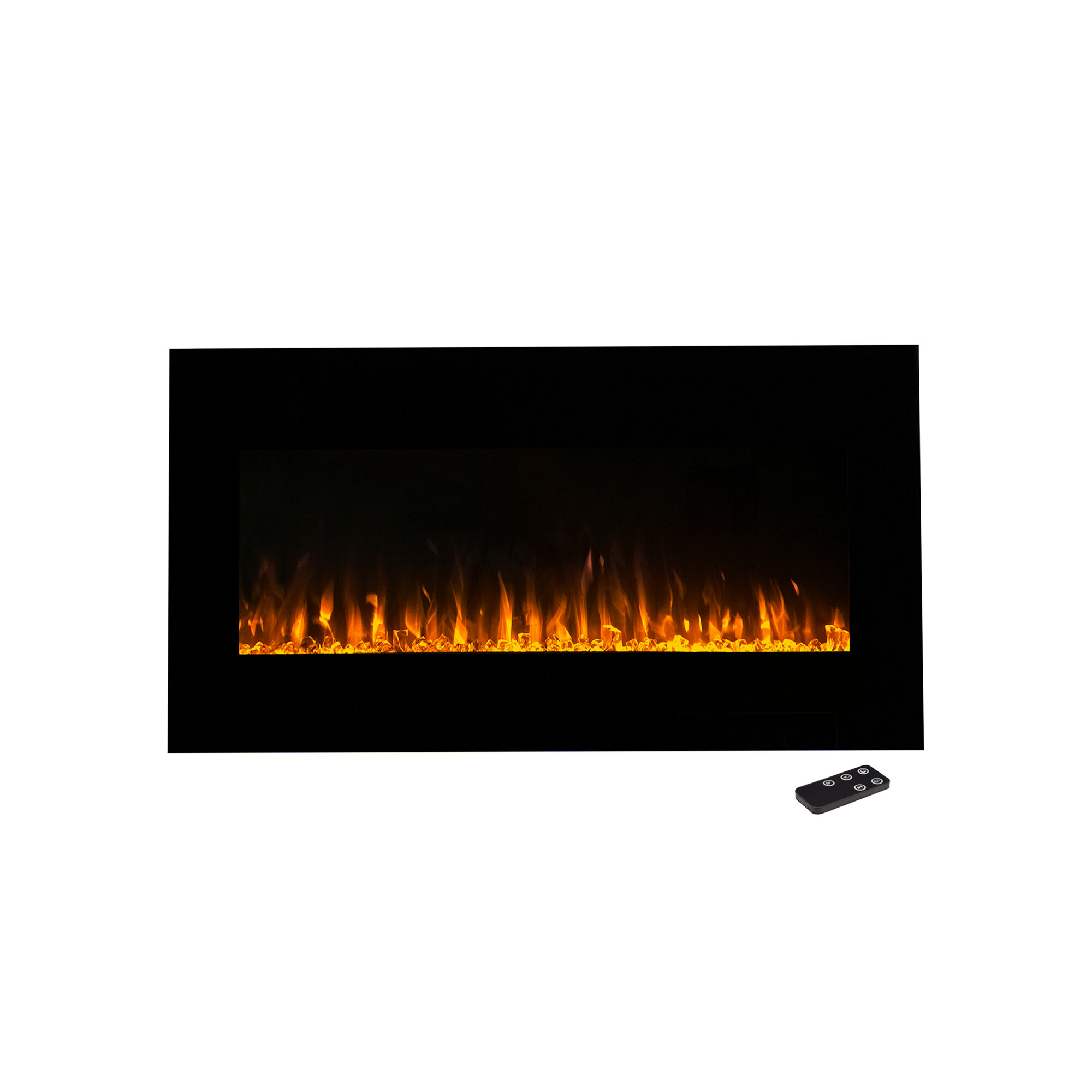 Wade Logan Aida Wall Mounted Electric Fireplace Reviews Wayfair
