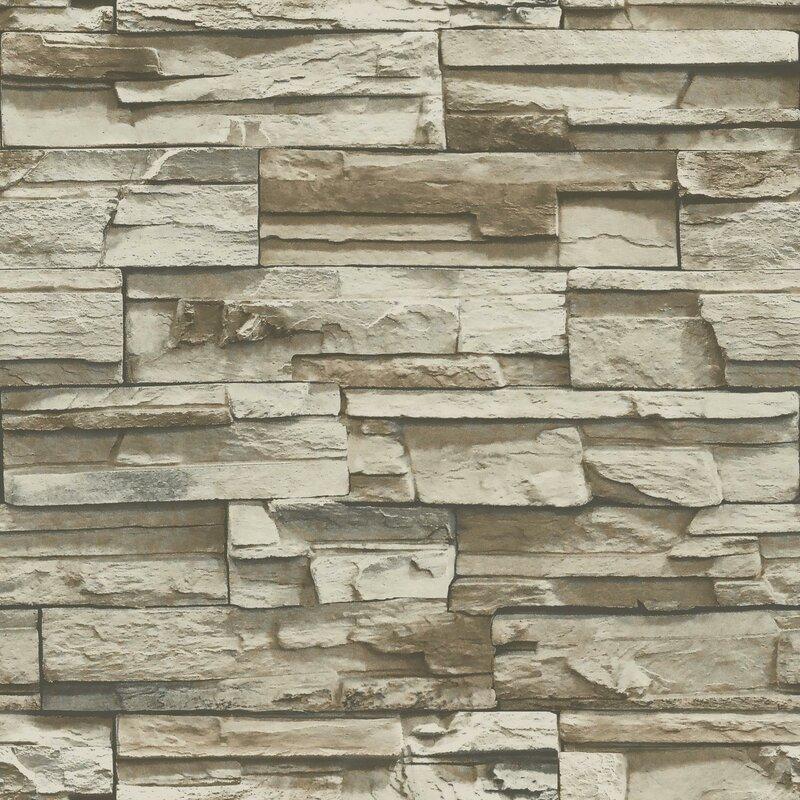 Fleur De Lis Living Coleen Stacked Stone 165 L X 205 W Brick