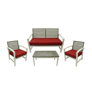 4 Piece Acacia Wood Outdoor Furniture Set Part 92