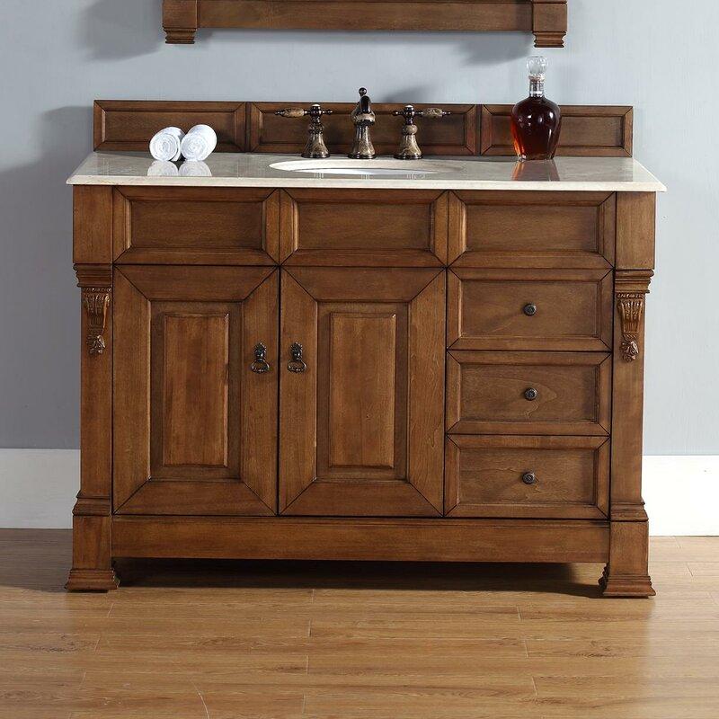 Bedrock 48 Single Country Oak Bathroom Vanity Set With Drawers