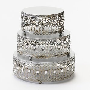 Moroccan 3 Piece Cake Stand Set