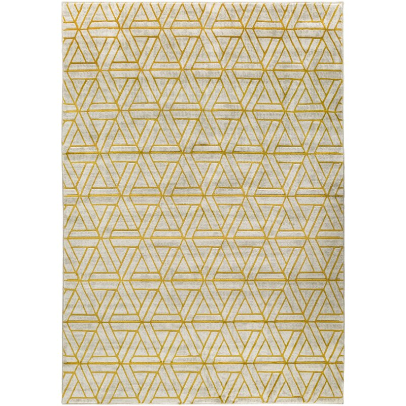 Ginsberg Light Gray Gold Area Rug Amp Reviews Allmodern