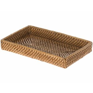 Cresthaven Rectangle Brown Vanity Tray