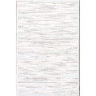 Ada Machine Woven Chenille White Area Rug