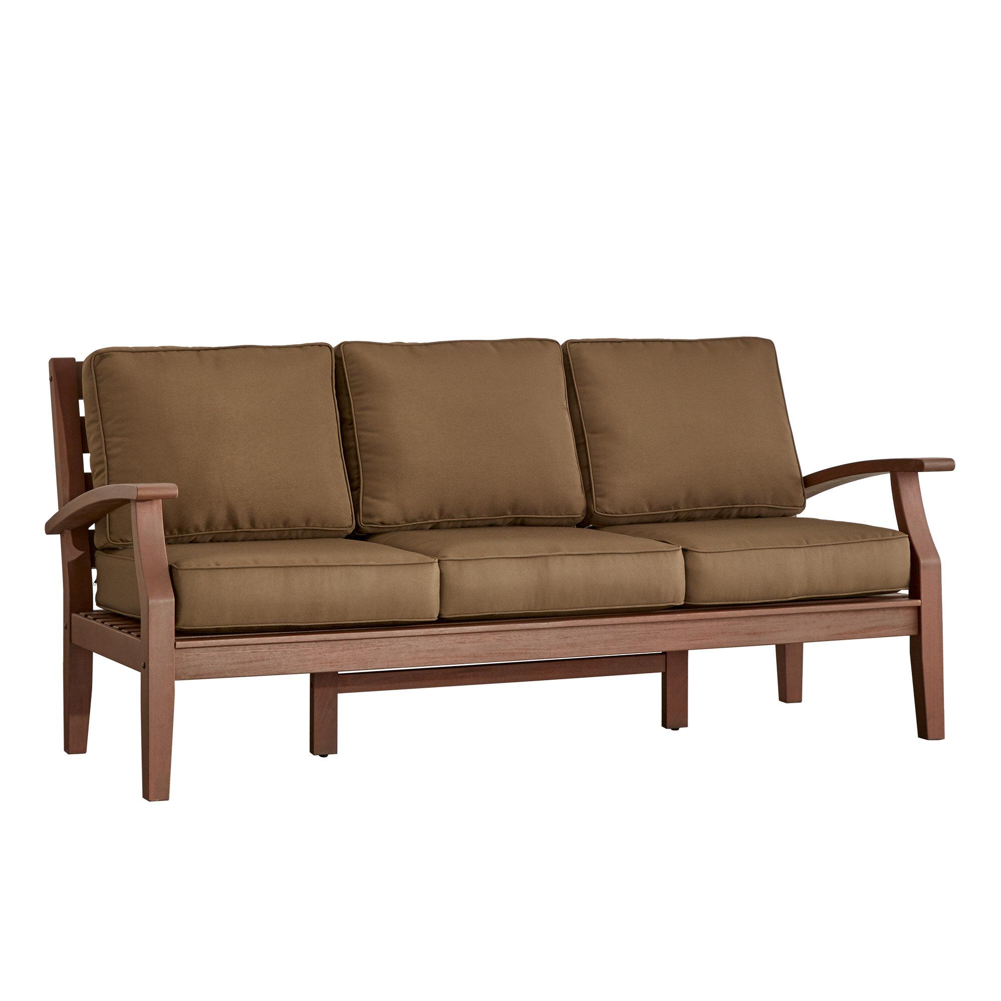 Three Posts Brook Hollow Sofa with Cushion & Reviews | Wayfair