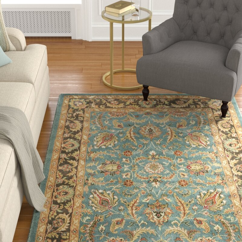 Superbe Cranmore Hand Tufted Wool Blue/Brown Area Rug