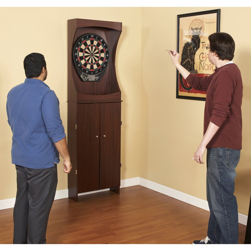 Hathaway Games Outlaw Free Standing Dartboard And Cabinet Set Amp Reviews Wayfair