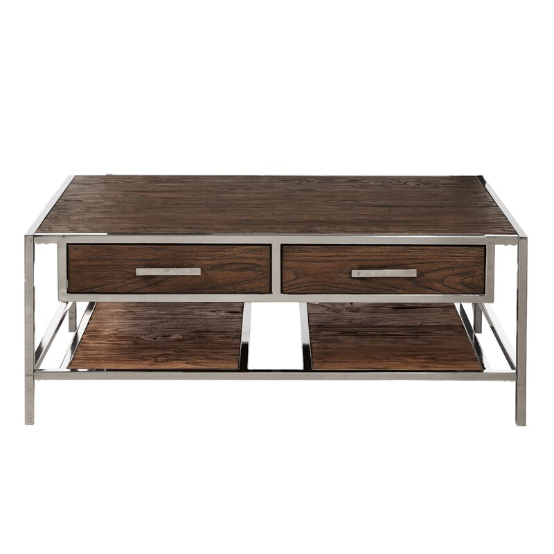 Charmant Falkner Modern Industrial Style Coffee Table With Storage