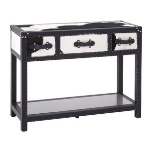 Johnathan 3 Drawer MDF/Stainless Steel Console Table ...