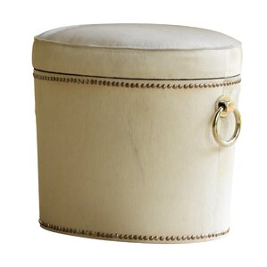 Chalis Ring Cowhide Leather Ottoman by Global Views