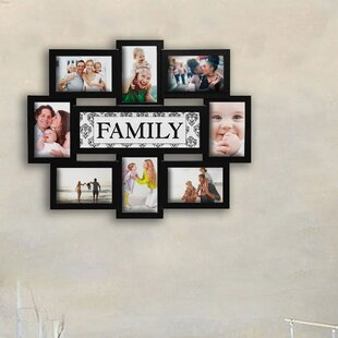 1c573754bb4 Giddings Family Theme Wall Hanging 8 Opening Photo Sockets Picture Frame