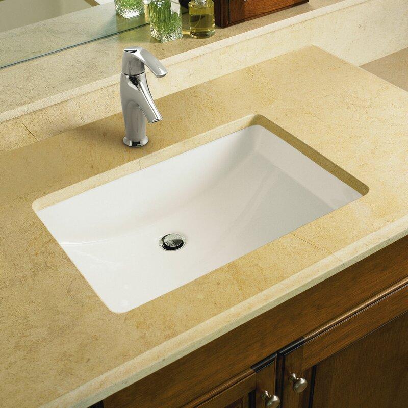 Ladena Ceramic Rectangular Undermount Bathroom Sink