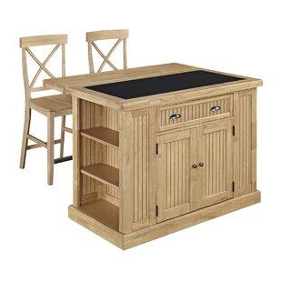 Kitchen islands with seating youll love wayfair rabin kitchen island set with granite top watchthetrailerfo