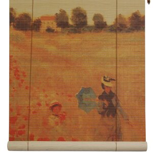 Poppies Bamboo Roller Blind