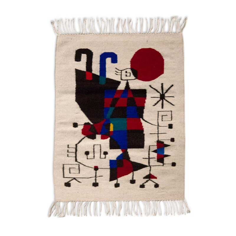 fair trade home decor. Fair Trade Naturally Dyed  Tribute to Joan Miro Expertly Hand Woven Mexican Wool Home Novica