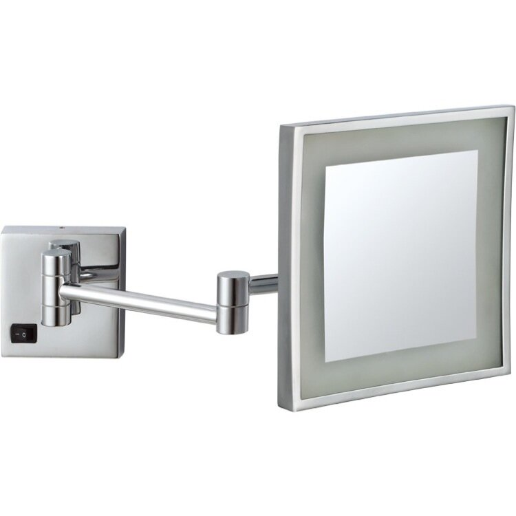 Wall Mounted Makeup Mirror With Lights glimmernameeks led light wall mounted makeup mirror & reviews