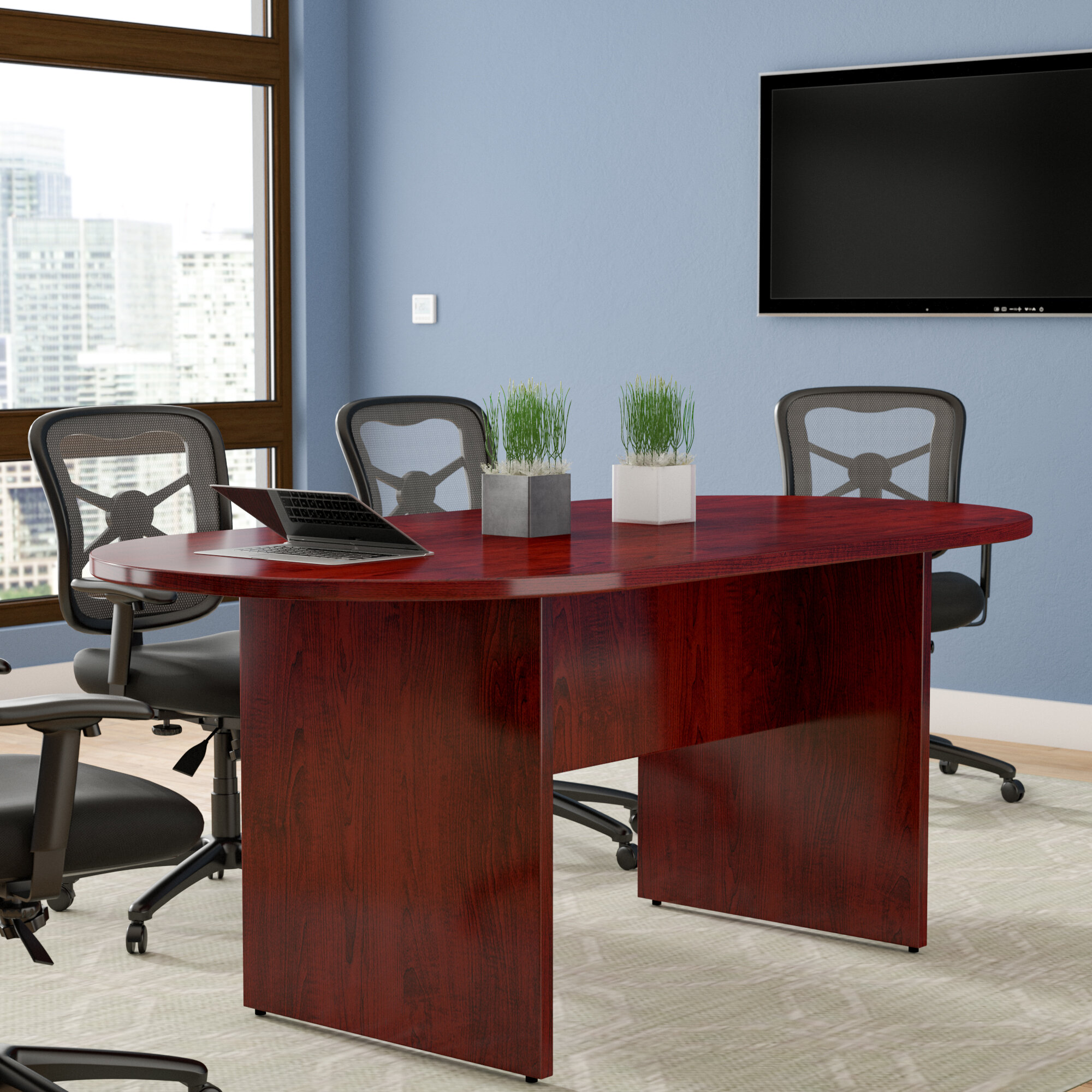 Red Barrel Studio Greenburgh RacetrackOval H X W X L - 72 conference table