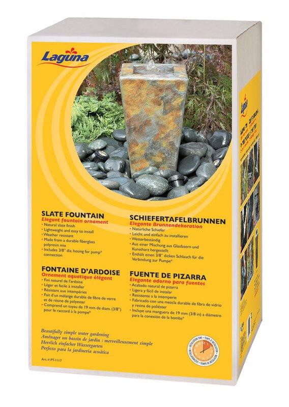 Durable Fiberglass Polyresin Mix Laguna Slate Fountain