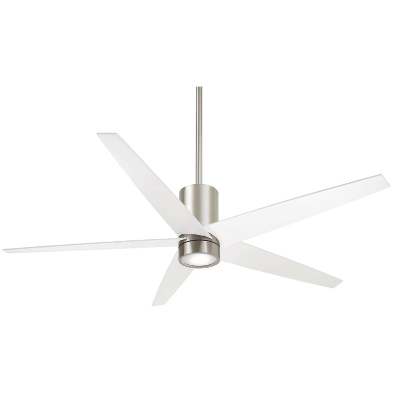 56 Quot Symbio 5 Blade Led Ceiling Fan With Remote Amp Reviews