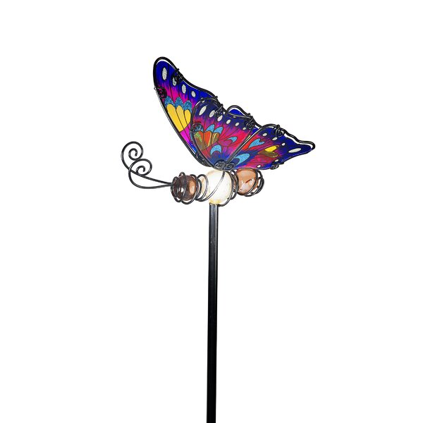 SunTime Outdoor Living Butterfly Garden Stake With Solar Powered LED U0026  Reviews | Wayfair