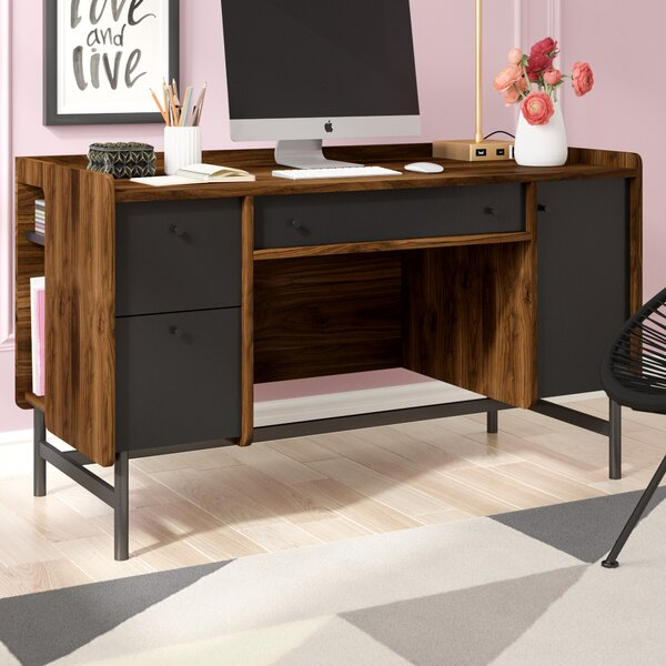Ivy Bronx Gamma Rectangular Computer Desk Amp Reviews