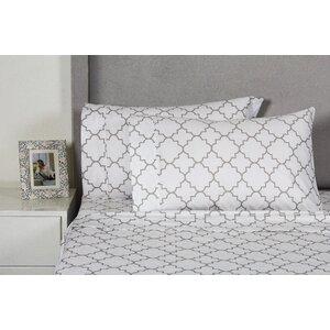 Lattice 400 Thread Count 100% Cotton Sheet Set