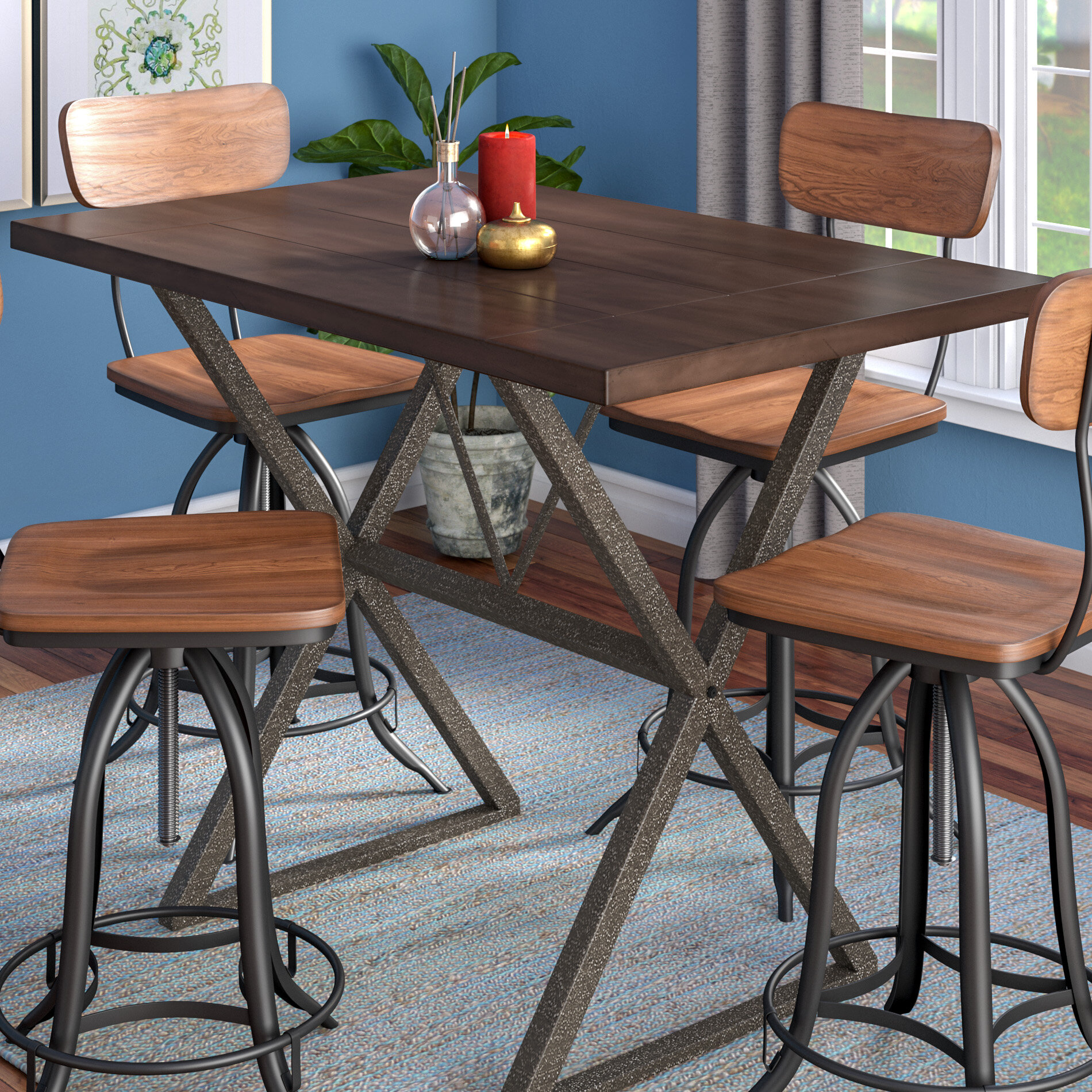 T Austin Design Red Cliff Counter Height Dining Table Reviews Wayfair