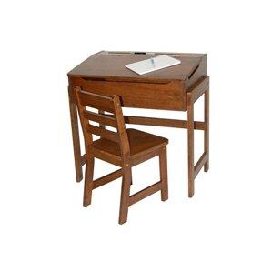 Alexa Kids' Desk and Chair Set in Walnut by Viv + Rae