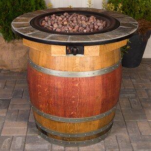 Genial Wine Barrel Steel Propane Fire Pit Table