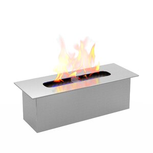 Jennings Bio Ethanol Metal Fireplace Burner Insert by Ebern Designs