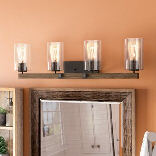 Rustic farmhouse vanity lights youll love wayfair richard 4 light vanity light by union rustic aloadofball Images