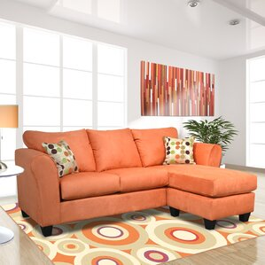 Dominey Reversible Sectional : orange sectional sofa - Sectionals, Sofas & Couches