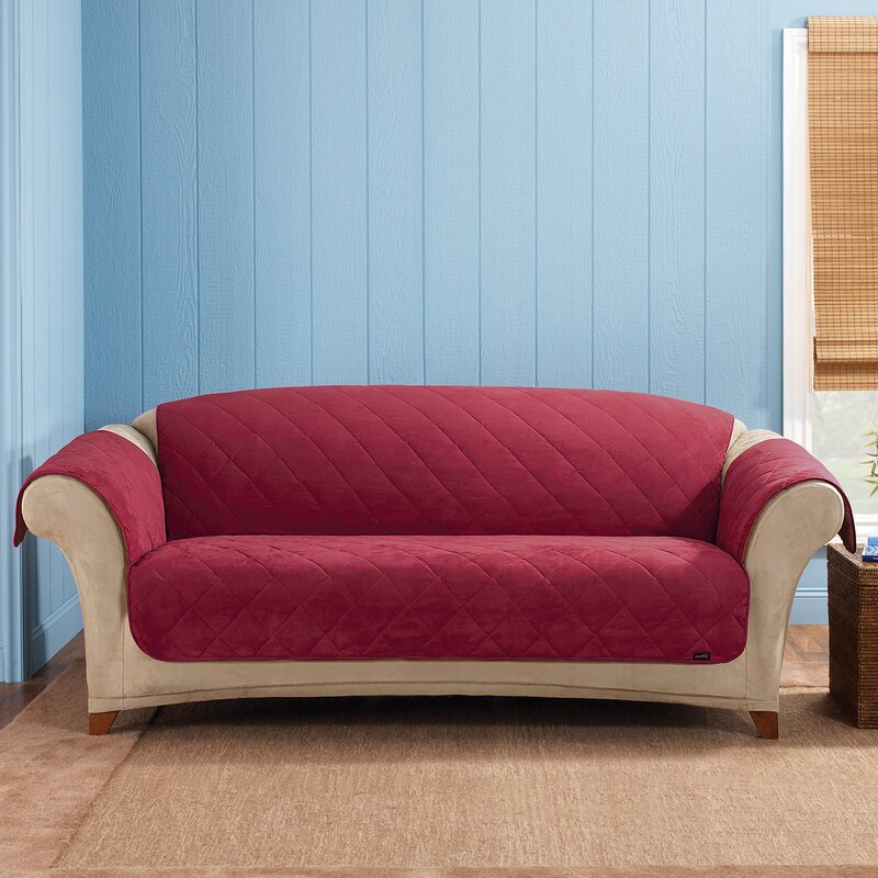 Sure Fit Soft Suede Box Cushion Sofa Slipcover & Reviews ...