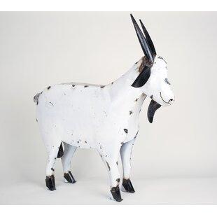 Medium Recycled Metal Goat Statue