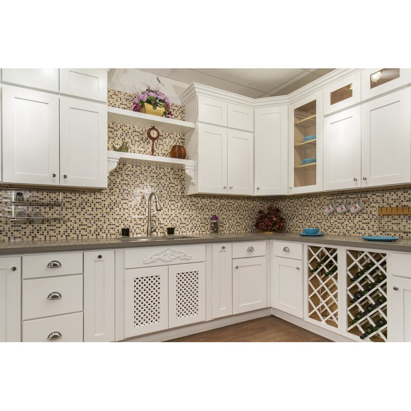 White Shaker 36 X 9 Wall Cabinet